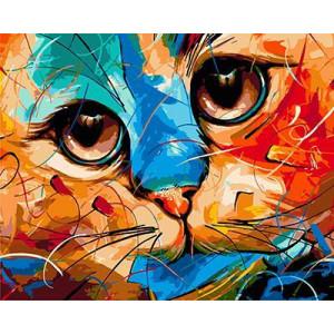 """GХ3935 """"Взгляд цветной кошки"""" , 40х50 см купить в Омске недорого"""