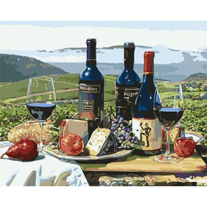 """GХ3937 """"Вино на фоне гор"""" , 40х50 см купить в Омске недорого"""
