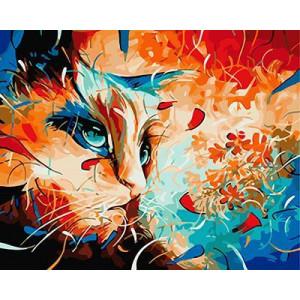"""GХ3963 """"Цветная кошка"""" , 40х50 см купить в Омске недорого"""