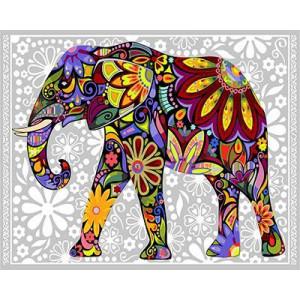 """GХ4030 """"Цветастый слон"""" , 40х50 см купить в Омске недорого"""
