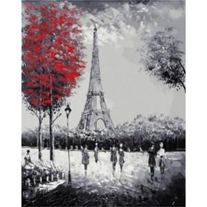 """GХ4058 """"Эйфелева башня, красное дерево"""" , 40х50 см купить в Омске недорого"""