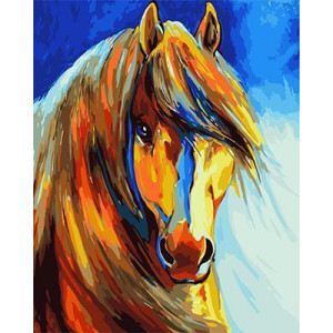 GХ4734 картина по номерам Цветная лошадь, 40х50 см