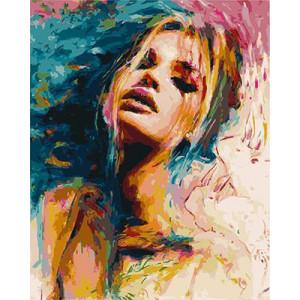 GХ4759 Раскраска по номерам Девушка, 40х50 см