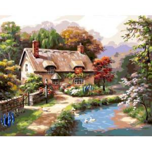 GХ4807 картина по номерам Домик, 40х50 см
