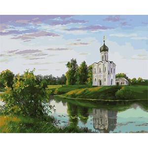 GХ4848 картины по номерам Церковь на берегу озера, 40х50 см