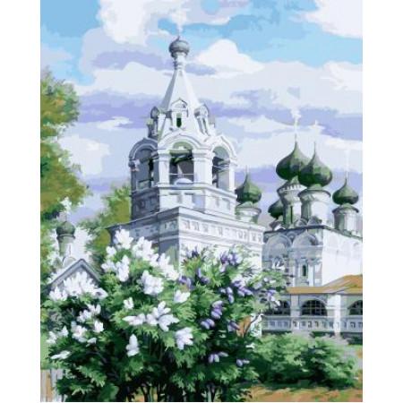 GХ4968 картины по номерам Белая церковь, 40х50 см