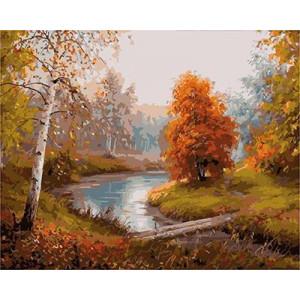 GХ4985 картины по номерам Осенняя речушка, 40х50 см