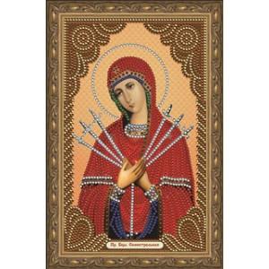 """CDX023 Алмазная мозаика на подрамнике """"Семистрельная икона Божией Матери"""", 20х30 см"""
