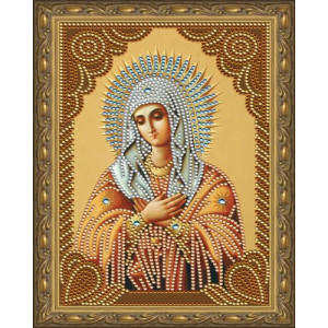 Алмазная мозаика 20х30 CDX 025 Икона Умиление Божьей матери