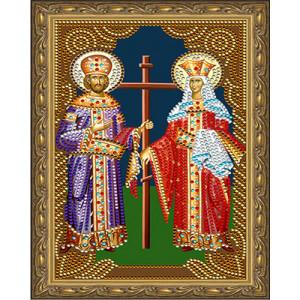 Алмазная мозаика 20х30 CDX 055 Икона Петр и Февронья