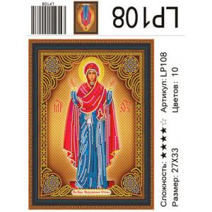 АМИ LP108 Икона Божией Матери «НЕРУШИМАЯ СТЕНА»  27х33 см
