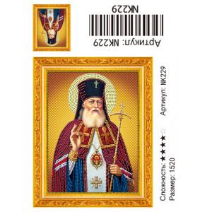 NK229 Икона Алмазная мозаика 15х20 см