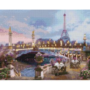 "VА138 Алмазная мозаика на подрамнике ""Летнее кафе в Париже"",   40х50 см"