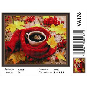 """VА176 Алмазная мозаика на подрамнике """"Осеннее настроение"""",   40х50 см"""