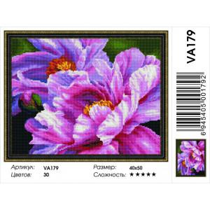 """VА179 Алмазная мозаика на подрамнике """"Розовые пионы"""",   40х50 см"""