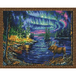 Алмазная мозаика 40х50 круглые стразы QA 200108 Северное сияние