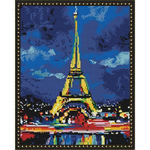 Алмазная мозаика 40х50 круглые стразы QA 200375 Ночной Париж