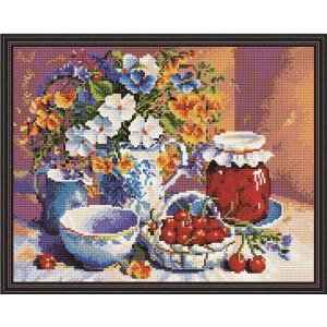 """QА200514 Алмазная мозаика на подрамнике """"Вишневое варенье"""", 40х50 см"""