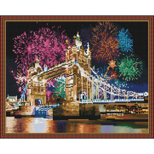 Алмазная мозаика 40х50 круглые стразы QA 200515 Салют в Лондоне