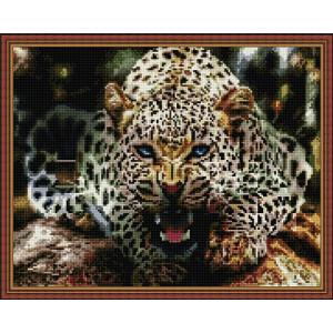 Алмазная мозаика 40х50 круглые стразы QA 200528 Леопард на ветке