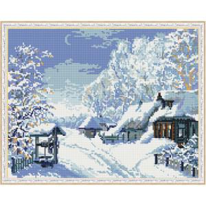 Алмазная мозаика 40х50 круглые стразы QA 200598 Русская зима