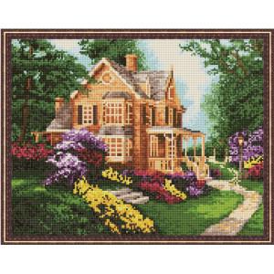 """QА201335 Алмазная мозаика на подрамнике """"Дом с садом"""", 40х50 см"""