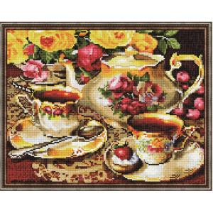 """QА201713 Алмазная мозаика на подрамнике """"Чайный сервиз"""", 40х50 см"""