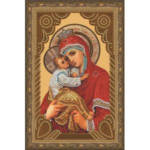 """Алмазная мозаика на подрамнике CDX032 """"Икона Почаевской Божией Матери"""", 20х30 см"""