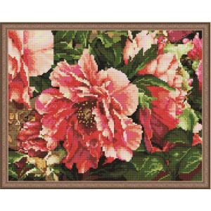 """QА202140 Алмазная мозаика на подрамнике """"Яркие цветы"""", 40х50 см"""