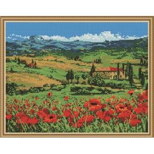 """QА202169 Алмазная мозаика на подрамнике """"Маковое поле"""", 40х50 см"""