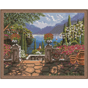 "QА202239 Алмазная мозаика на подрамнике ""Летняя идиллия"", 40х50 см"