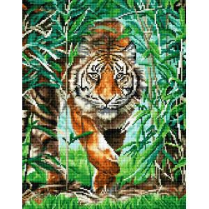 "QА202626 Алмазная мозаика на подрамнике ""Хозяин джунглей"", 40х50 см"