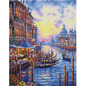 """QА202631 Алмазная мозаика на подрамнике """"Причал в Венеции"""", 40х50 см"""