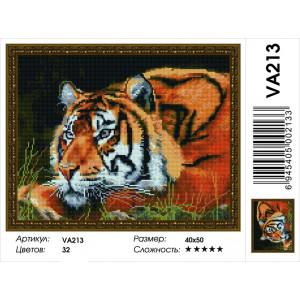 "VA213 Алмазная мозаика на подрамнике ""Сила во взгляде"",   40х50 см"