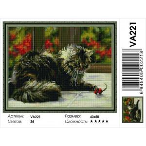 """VА221 Алмазная мозаика на подрамнике """"Кошки-мышки"""",   40х50 см"""