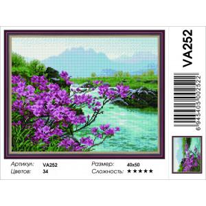 """VA252 Алмазная мозаика на подрамнике """"Цветение багульника"""",   40х50 см"""