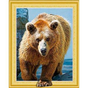 SGA 448 Медведь 3D Алмазная мозаика 40х50 круглые стразы
