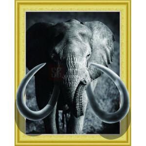 3D Алмазная мозаика 40х50 круглые стразы SGA 551 Слон