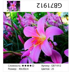 """АМ34 GB71912 алмазная мозаика """"Лиловая лилия"""", 30х40 см"""