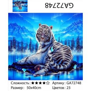 "АМ34 GB72748 алмазная мозаика ""Тигр на фоне северного сияния"", 30х40 см"