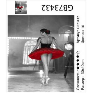 "АМ34 GB73432 алмазная мозаика ""Балерина"", 30х40 см"