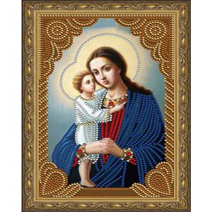 Алмазная мозаика 20х30 CDX 016 Икона Божьей матери