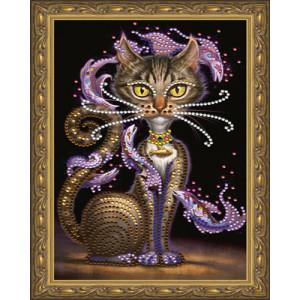 Алмазная мозаика 20х30 CDX 036 Кошка