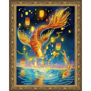 Алмазная мозаика 20х30 CDX 050 Золотая рыбка