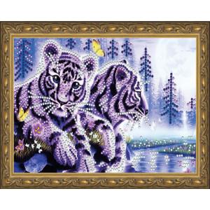 Алмазная мозаика 20х30 CDX 054 Тигрята