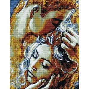 """QA201105  Алмазная мозаика на подрамнике """"Нежность влюбленных"""" , 40х50 см"""