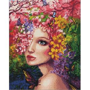 Алмазная мозаика, 40х50, круглые стразы QA 202781 Госпожа Весна