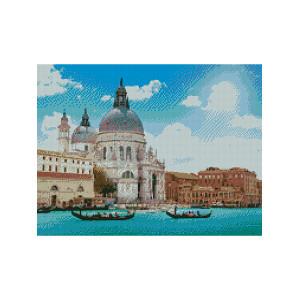 L409 Венеция алмазная мозаика 40х50см квадратные стразы