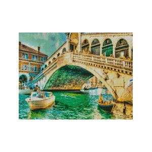 L412 Мост Риалто алмазная мозаика 40х50см квадратные стразы