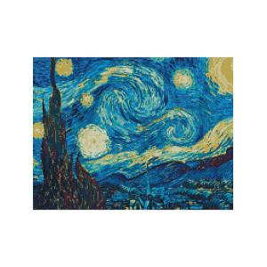 L431 Звездное небо алмазная мозаика 40х50см квадратные стразы